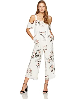 9e91994079c Amazon.com  MOON RIVER Women s Smocked Waist Lace Up Casual Jumpsuit ...