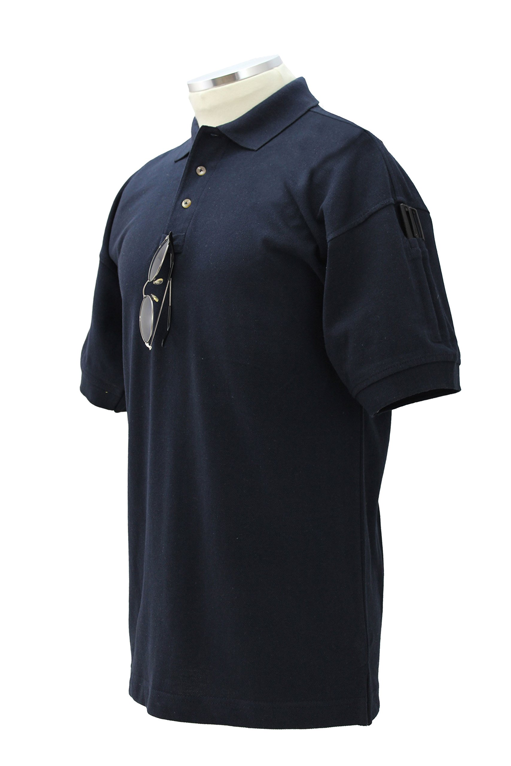 First Class PRESHRUNK 100% COTTON TACTICAL SHORT SLEEVE MEN'S POLO SHIRT Small Navy Blue by First Class