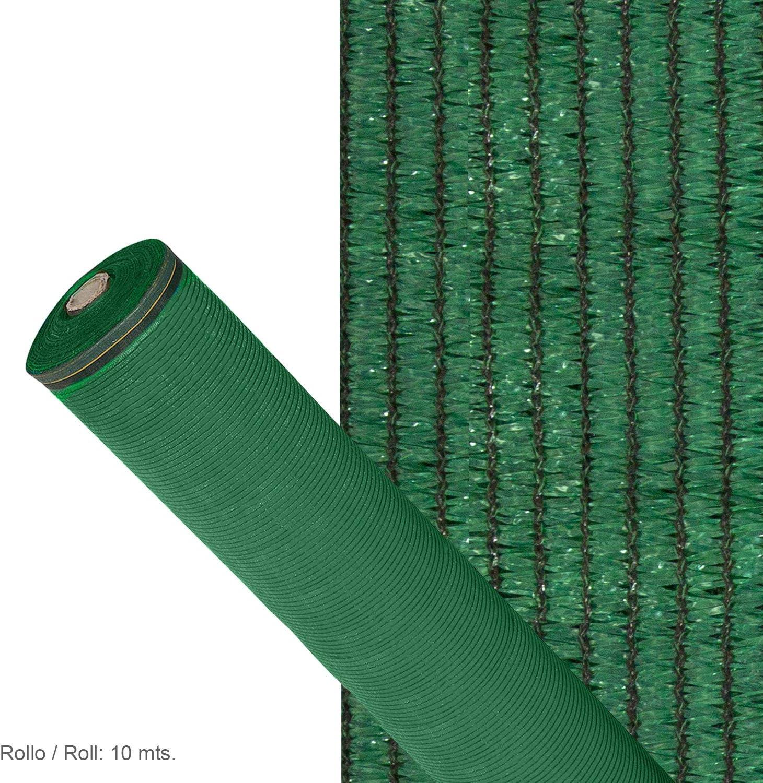 Malla Sombreo 90/% Verde Claro 2,0 Metros Rollo 10 Metros