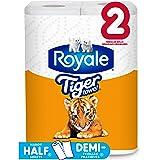 Royale Tiger Strong Paper Towel, 2 Regular Rolls, 2-Ply, 55 Handy Half Sheet Rolls