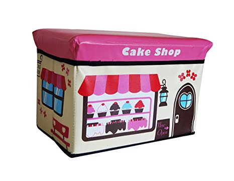 Takestop pouf pieghevole in ecopelle eco rosa candy shop negozio