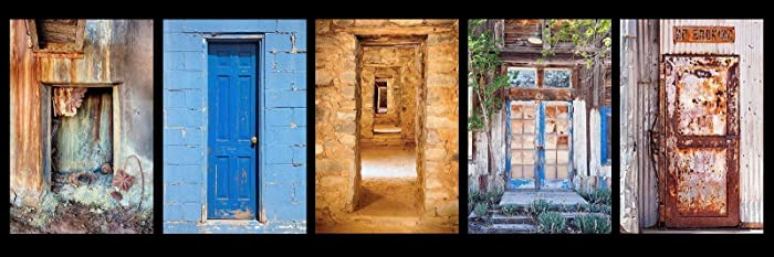 12 x 36 inch panoramic photograph of a group of colorful Southwest Doors 2. This & Amazon.com: 12 x 36 inch panoramic photograph of a group of colorful ...