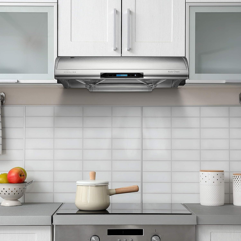 Campana extractora de cocina para debajo del gabinete, diseño de acero inoxidable: Amazon.es: Grandes electrodomésticos