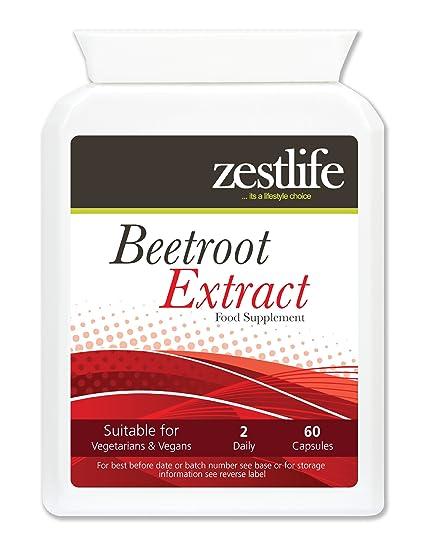 Zestlife Extracto de remolacha Extracto 2125mg 2 x 60 cápsulas Usado tradicionalmente como alimento para la