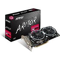 MSI Radeon RX 580 ARMOR 8G OC Radeon RX 580 8GB GDDR5 - Tarjeta gráfica (Radeon RX 580, 8 GB, GDDR5, 256 Bit, 8000 MHz, PCI Express x16 3.0)