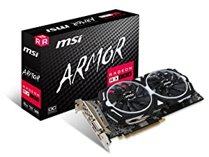 MSI VGA Graphic Cards RX 580 ARMOR 8G OC