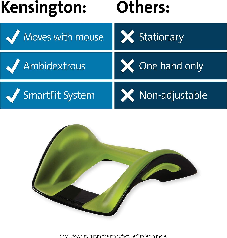 Kensington SmartFit Conform-Handgelenkauflage f/ür Rechts- und Linksh/änder Verstellbare Handgelenkst/ütze mit Gel-Eins/ätzen f/ür individuellen Komfort bei der Verwendung von Computerm/äusen K55787EU