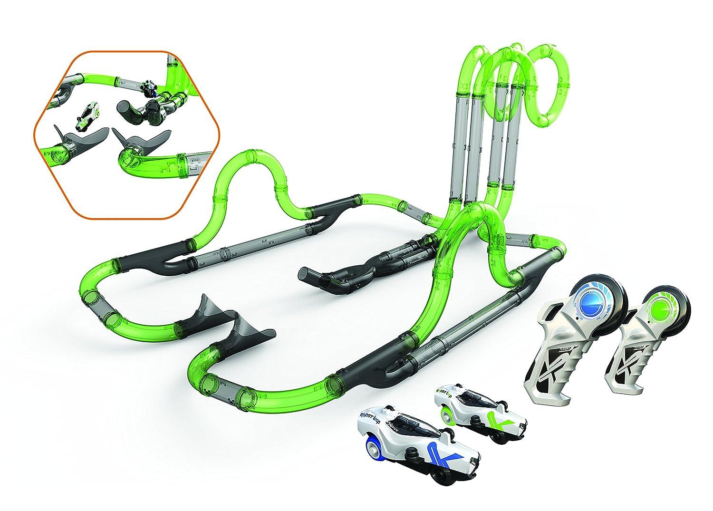 SilverLit - Twin Tower Racing Set - 57 Tubos Circuito modulables - 2 Coches, 20234, Verde: Amazon.es: Juguetes y juegos