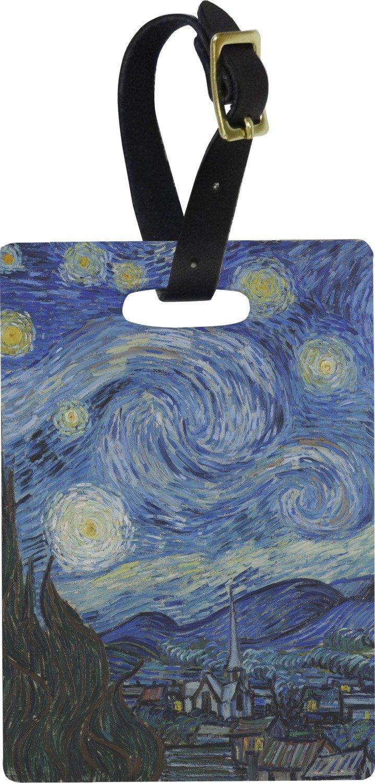The Starry Night (Van Gogh 1889) Rectangular Luggage Tag