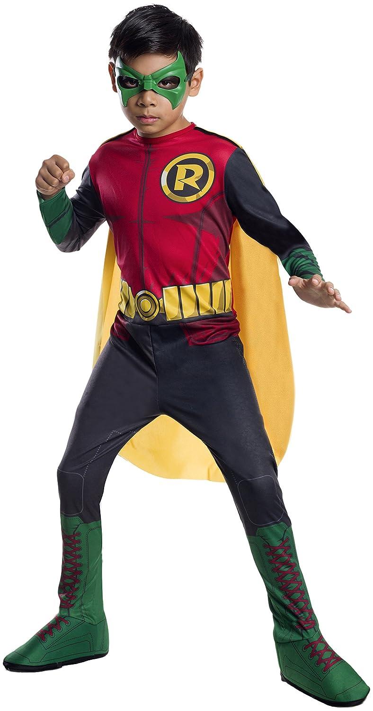 sc 1 st  Amazon.com & Amazon.com: DC Superheroes Robin Costume Childu0027s Medium: Toys u0026 Games