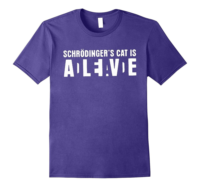 Blittzen Mens T-shirt Schrodingers Cat Alive Dead-Vaci