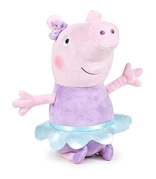 Peluche Peppa Pig - bailarina lila - 30 cm