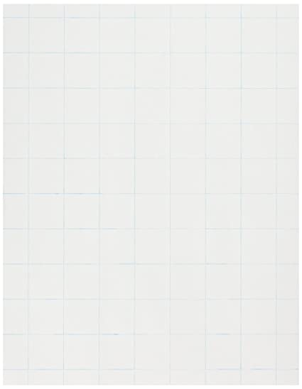 amazon com school smart double sided graph paper with 1 in rule