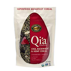Nature's Path Qi'a Superfood Topper Cranberry Vanilla with Chia, Buckwheat + Hemp, Healthy, Organic & Gluten Free, 7.9 Ounces