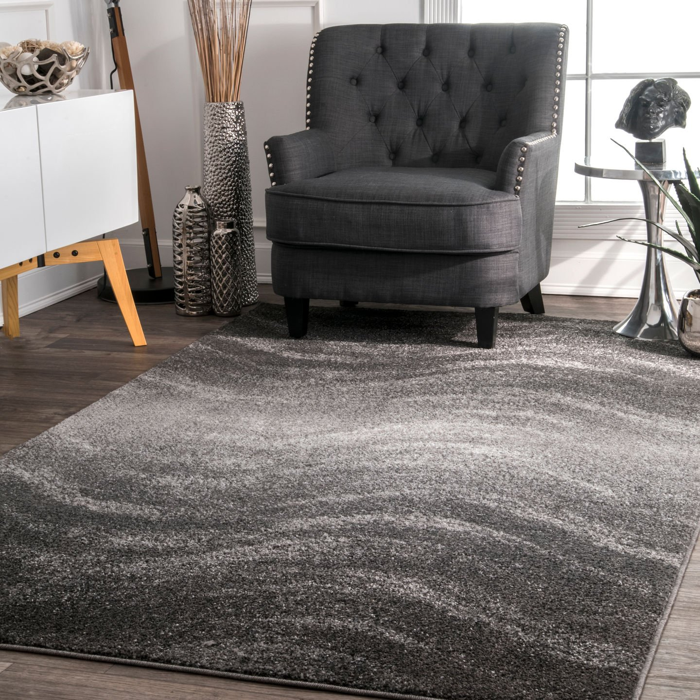 nuLOOM Julene Contemporary Area Rug, 4 x 6 , Grey