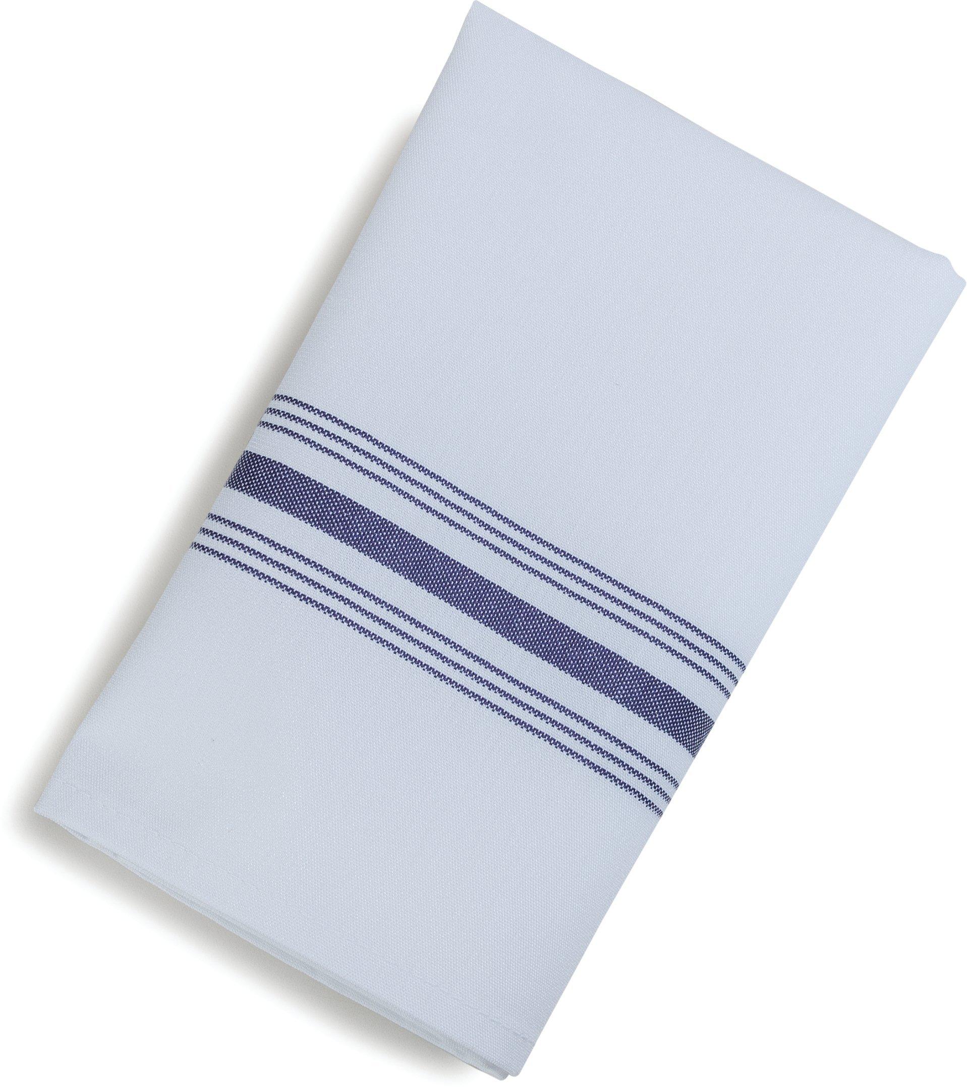 Carlisle 53771822NH052 Restaurant Quality Cloth Dinner/Bistro Napkins, 18'' x 22'', Purple Stripe (Pack of 12)