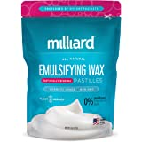 Milliard Non-GMO Emulsifying Wax Pastilles NF – 8 OZ. Resealable Freshness Storage Bag