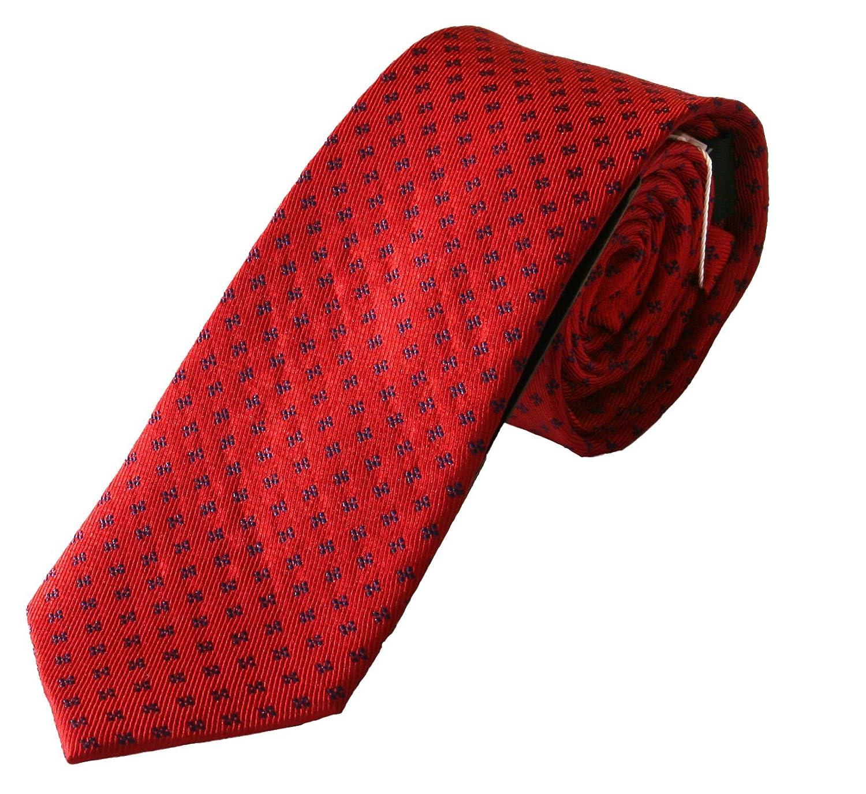 Corbata roja, fabricada a mano, 100% seda, el epítome del lujo en ...