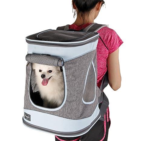 petsfit tela transportín plegable/mochila para perros y gatos