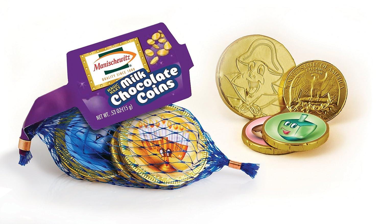 Amazon.com : Manischewitz Magic Max's Milk Chocolate Coins .53 oz ...