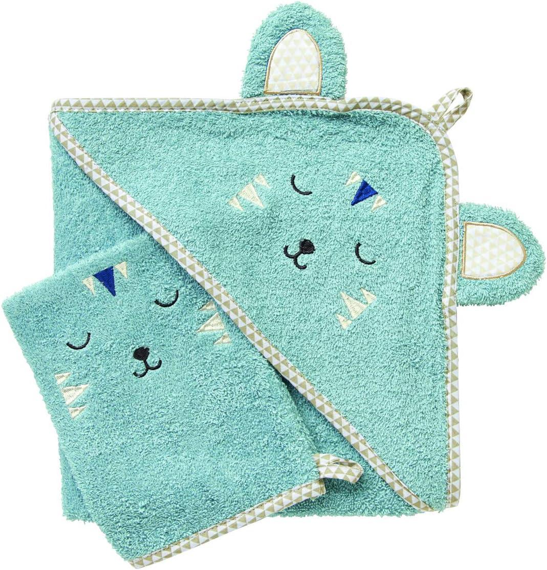 ensemble bebe Cape avec gant BcGrGIR b/éb/é NISSANOU Sortie de bain idee cadeau naissance