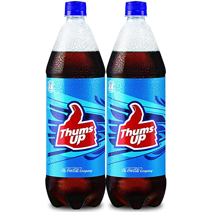coca cola thums up fridge pack 1 25l pack of 2 amazon in grocery