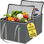 XL Insulated Shopping Bags for Groceries (2-Pack) - Premium Quality Cooler