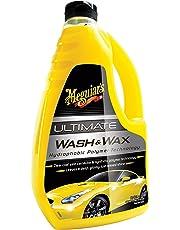 Meguiar's Car Care Products G17748 Ultimate Wash & Wax Producto de Limpieza para Coche, Líquido, Viviendas, Amarillo