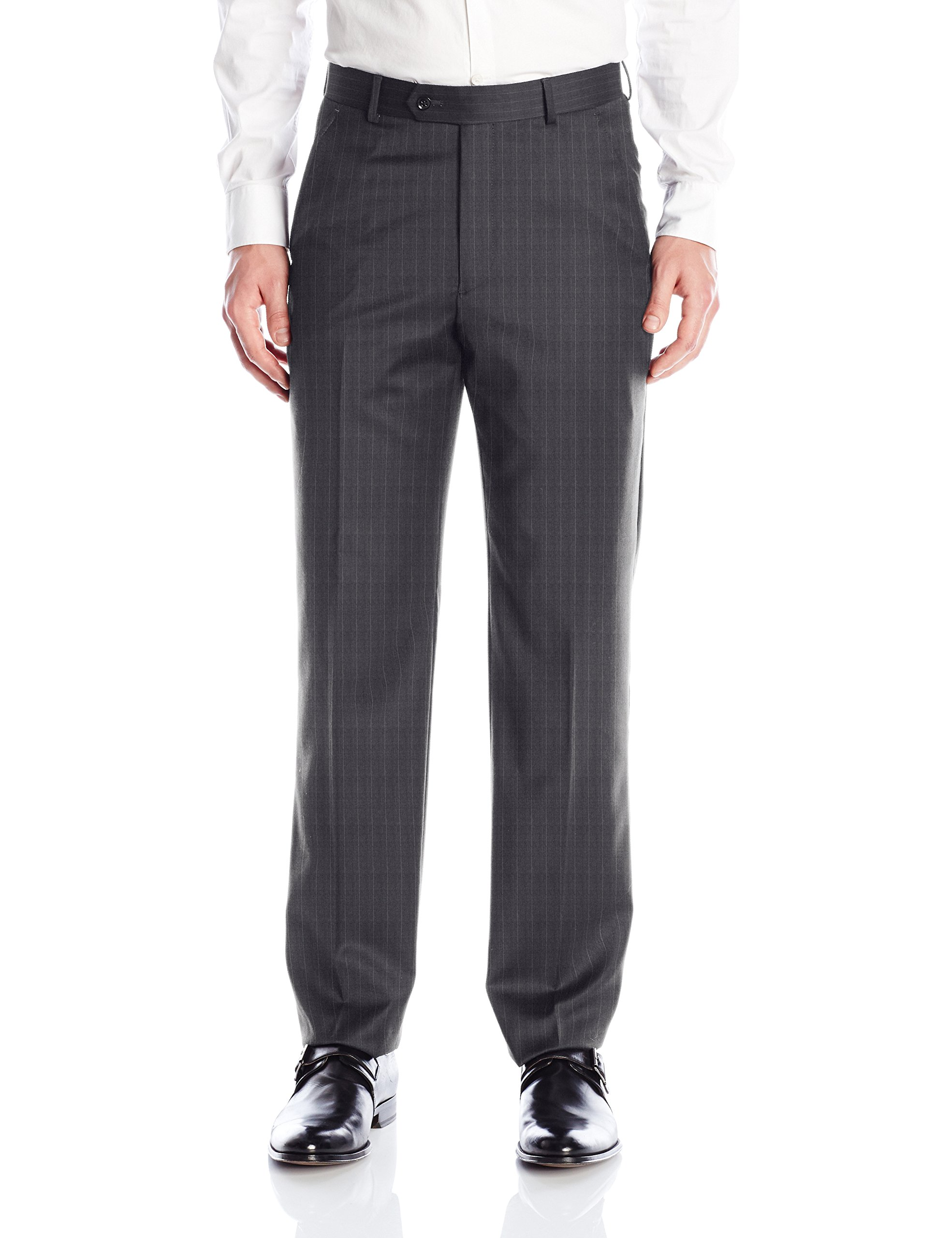 Palm Beach Men's Cole Suit Seperate Pant, Grey Stripe, 40W Regular by Palm Beach
