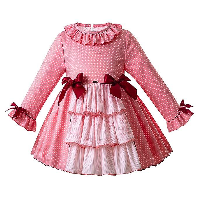 Color Petitpop Lunares Niñas Impresión Ju Vestido Durazno De Las fwUUTq