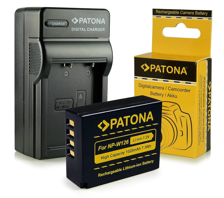 Cargador + Batería NP-W126 para FujiFilm FinePix X-Pro 1   HS30 EXR   HS30EXR   HS-30EXR   HS33 EXR   HS33EXR   HS-33EXR   HS50EXR   X-E1   X-M1