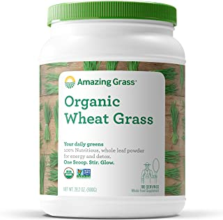product image for Amazing Grass Wheat Grass Powder: 100% Whole-Leaf Wheat Grass Powder for Energy, Detox & Immunity Support, 100 Servings