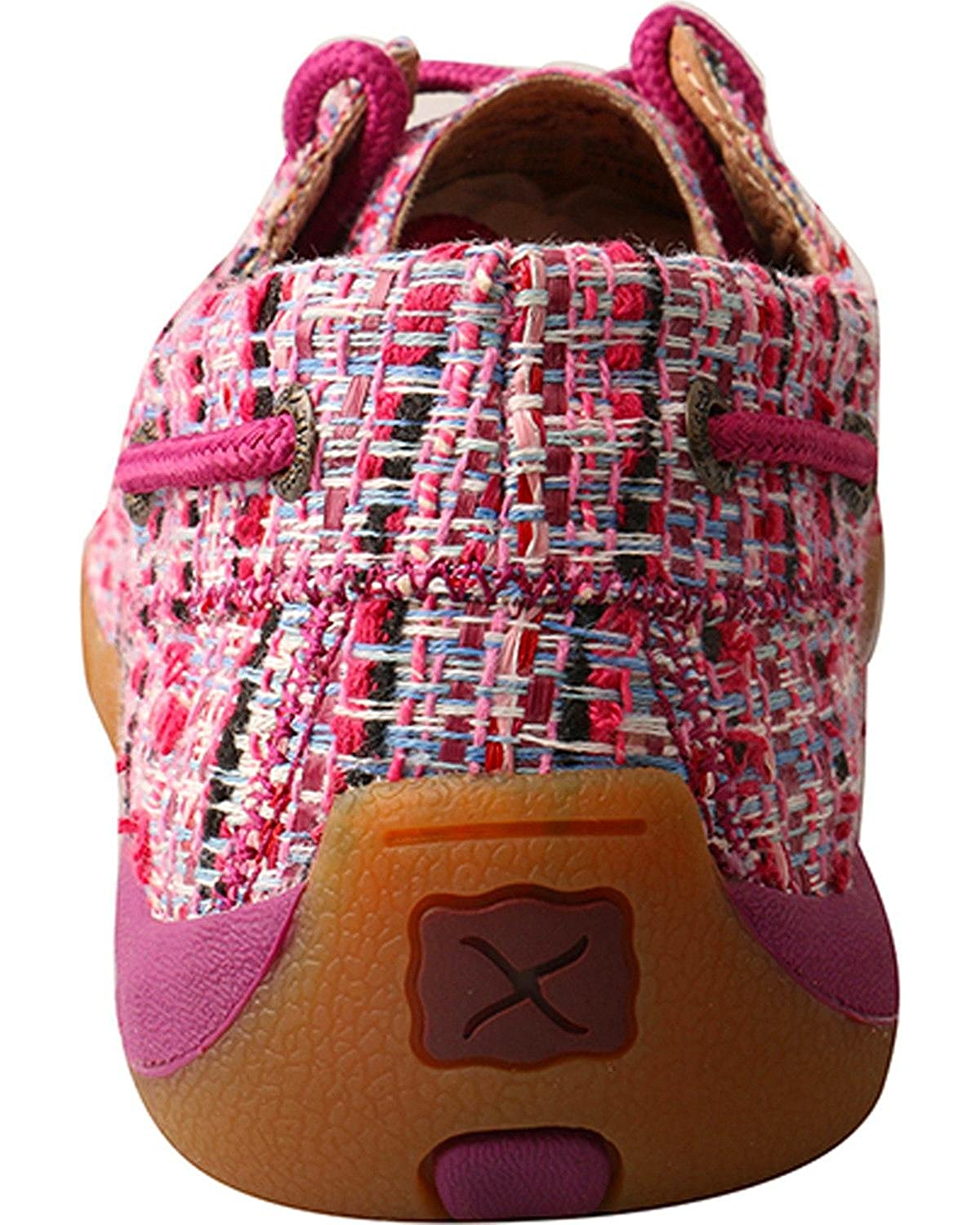 Twisted X Womens Woven Textile Lace Up Driving Mocs Moc Toe
