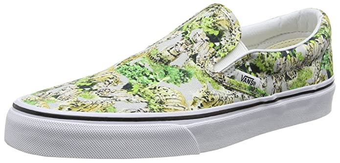 Vans Classic Slip-On Unisex Erwachsene Bunt Chambray/Leopard