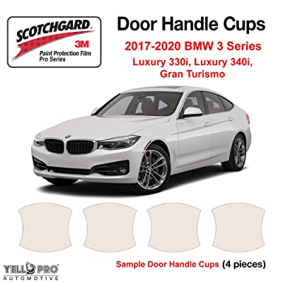 YelloPro Custom Fit Door Handle Cup 3M Scotchgard Anti Scratch Clear Bra Paint Protector Film Cover Self Healing PPF Guard Kit for 2020 2020 2020 2020 BMW 3 Series Luxury 330i 340i Gran Turismo: Automotive [5Bkhe1513819]