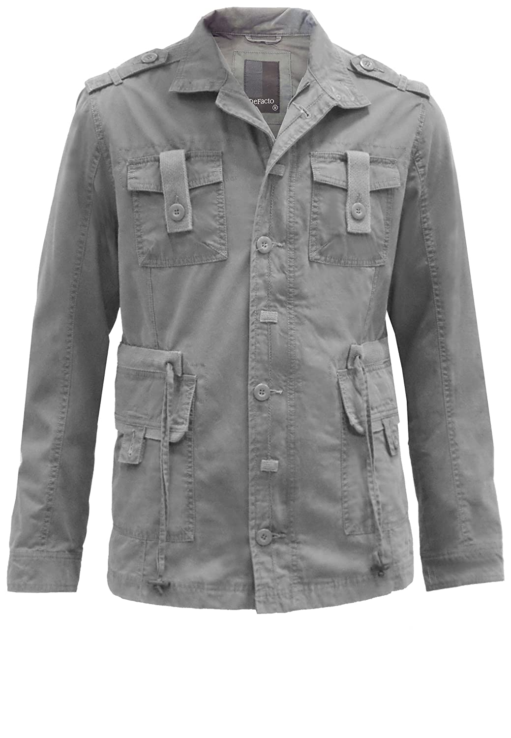 De Facto Men's Jacket Grey Grey Medium