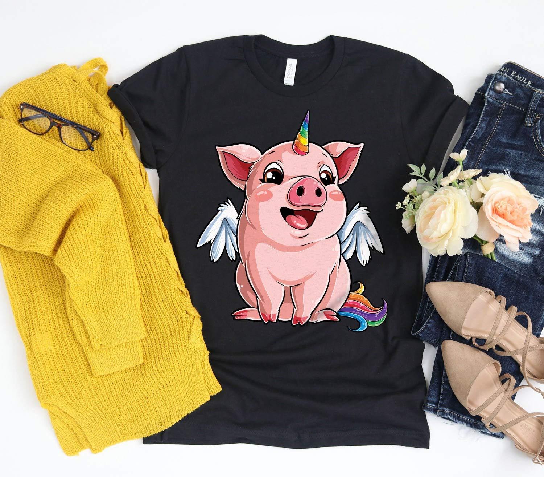 Pig Unicorn Piggycorn Pig Pig Gifts Pigs Pig Lover Piggy Pig Tshir Shirts