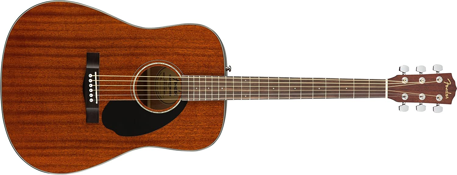 Fender CD-60S Acoustic Guitar Natural Finish - All Mahogany