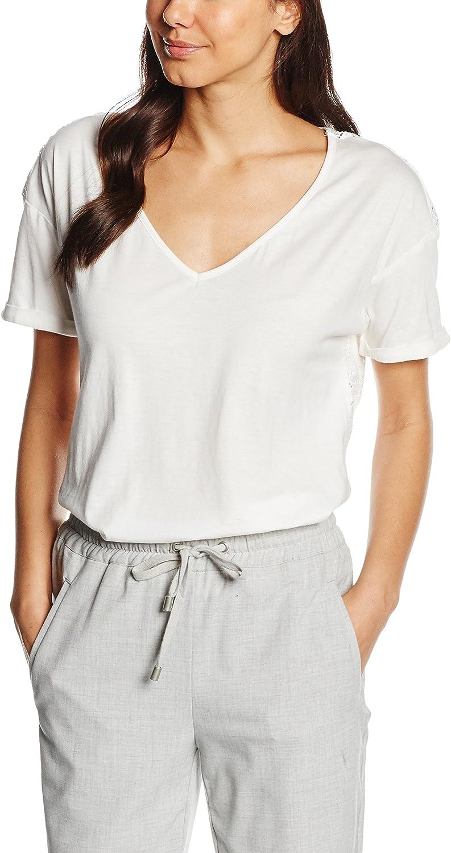 Pedro del Hierro Camiseta Espalda GUIPUR, Ivory, L para Mujer ...