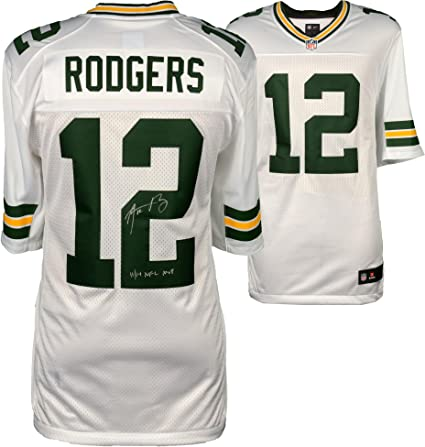 aced56f243f Aaron Rodgers Green Bay Packers Autographed Nike White Limited Jersey  with