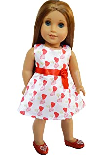 Hearts Satin Legging Set for American Girl Dolls 18 Inch Dolls