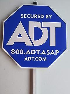Amazon.com : ADT Window Sticker Decal Authentic Dark Blue ...