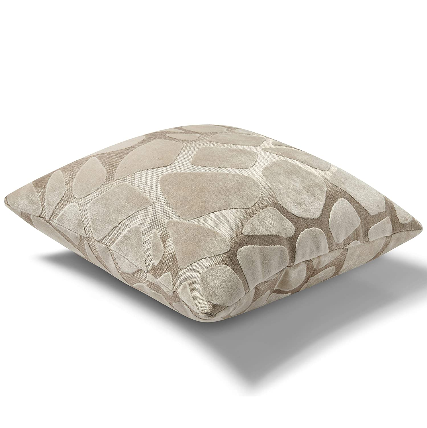 Pillow Pops Pearl Pillow Milky Way Set, White Home Accent D cor Throw Bolster, Luxury Designer Upholstery Cushion 18x18x4 Inch Made in USA