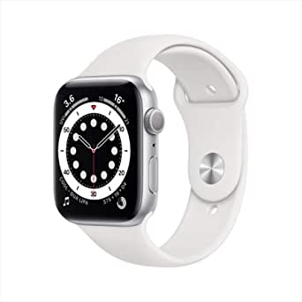 AppleWatch Series 6 (GPS, 40mm) - Silver Aluminium Case with White Sport Band