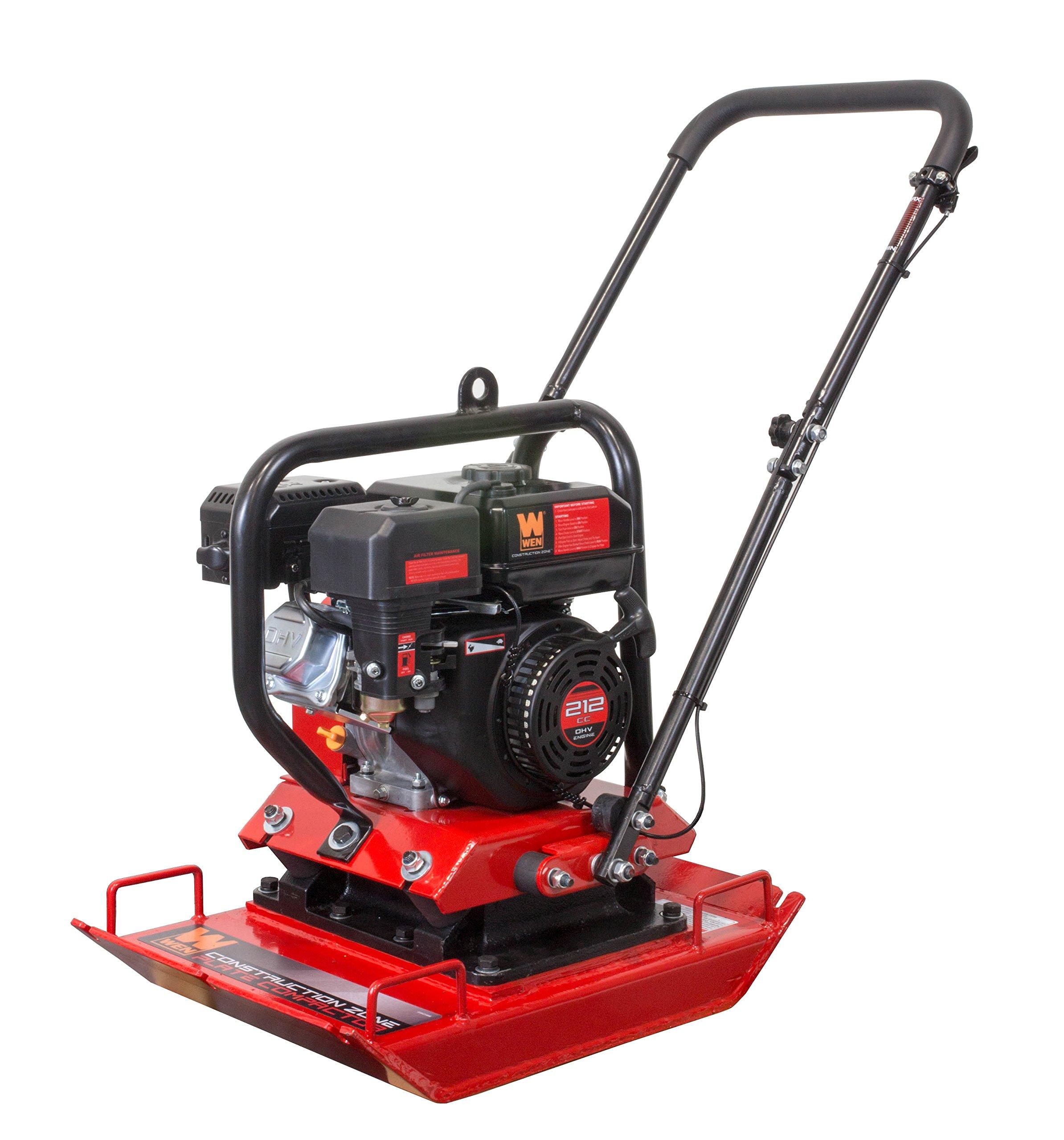 WEN 56035 Construction Zone 4,496-Pound Capacity Plate Compactor, Vibratory Asphalt/Soil Plate by WEN