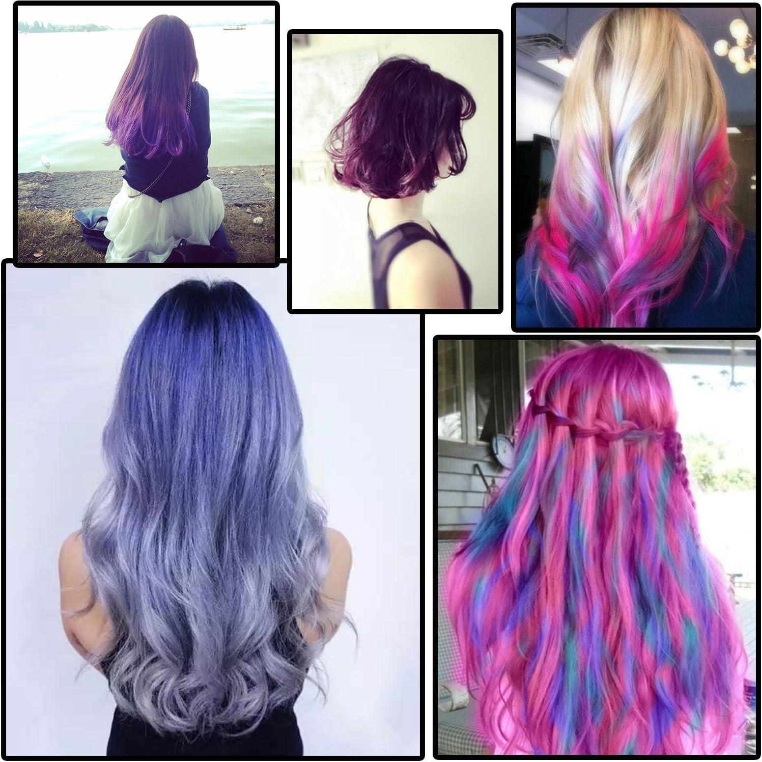 6 Color tizas – jamhoodirect no tóxico temporal para el pelo ...