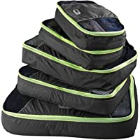 GOX Ultra Light 5 Piece Packing Cubes Travel Luggage Organizers with Laundry Bag 1 Large 2 Medium 2 Small