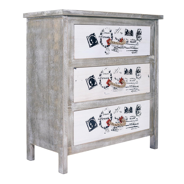 Excellent mobili rebecca comodino como cassettiera cassetti legno bianco vintage shabby chic - Mobili antichi colorati ...