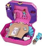 Polly Pocket Coffret Univers La Boîte à Musique avec 2 Mini-Figurines et Accessoires, Autocollants et 5 Surprises Cachées, Jouet Enfant, édition 2018, GCJ88
