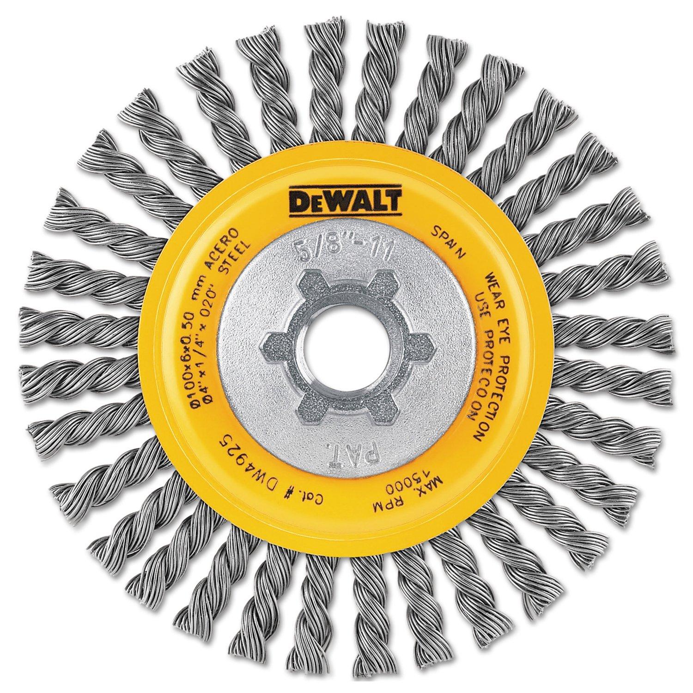 """New DeWalt 3"""" DW4920 Carbon Crimp Brush 5//8""""-11 Arbor"""